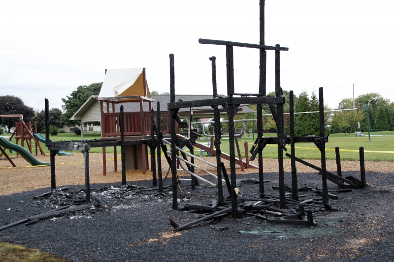 Playground Fire Ruled Arson