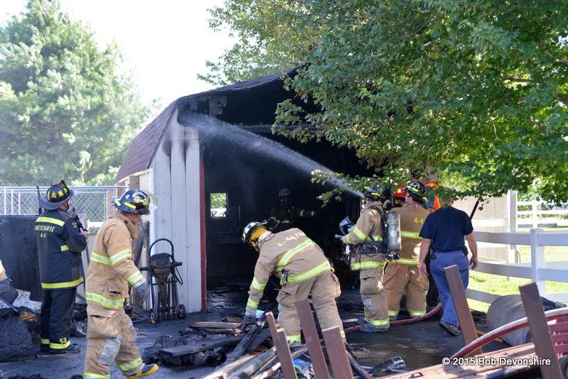 Firefighters make quick work of Leacock Township shed fire near station