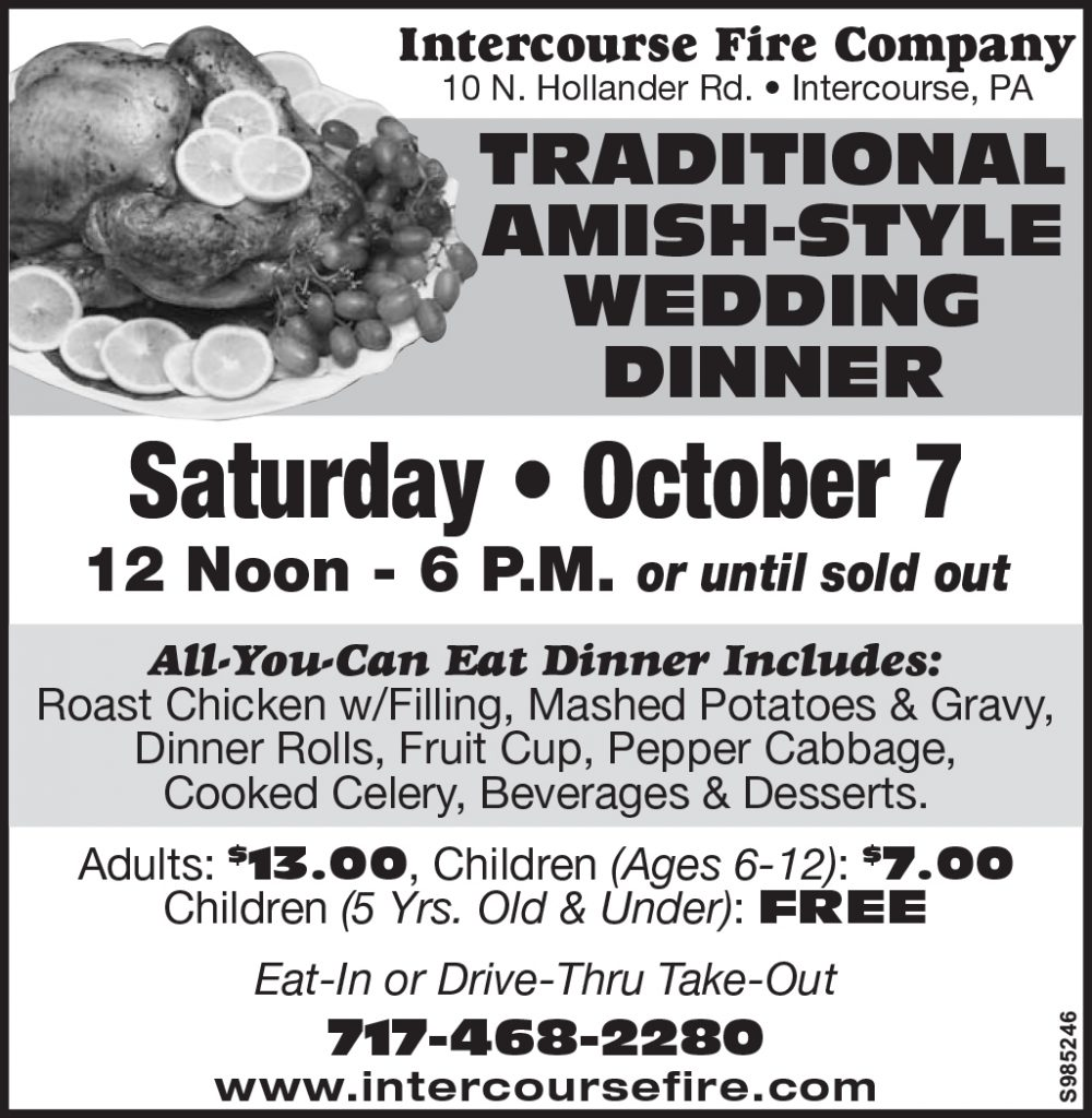 Amish Wedding Dinner